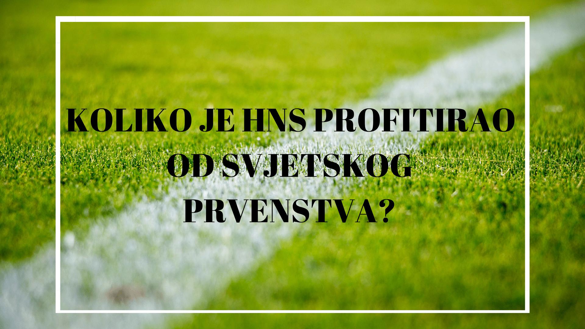 Koliko je HNS profitirao od Svjetskog prvenstva?