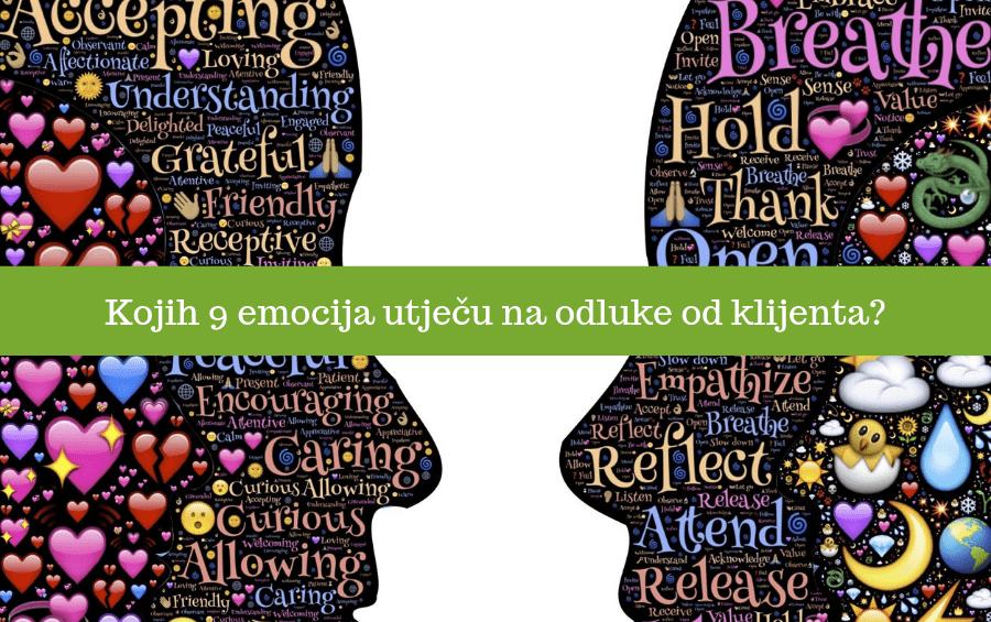 9 emocija koje utječu na odluke od klijenta