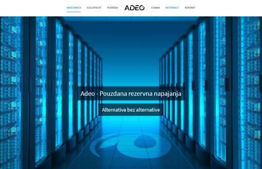 Redizajn web stranice za firmu Adeo