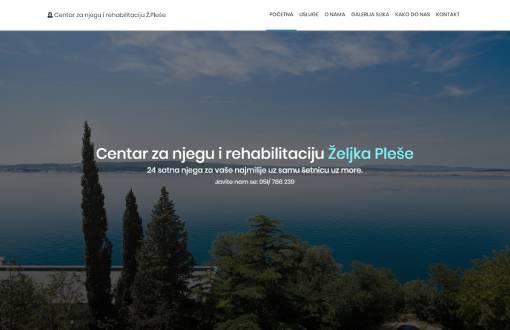 Izrada web stranice za Centar Pleše
