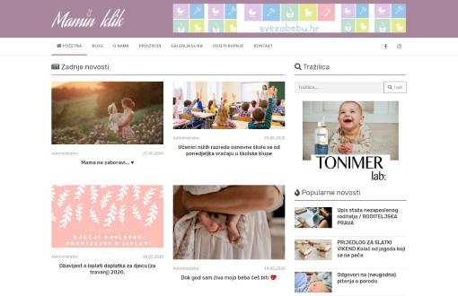 Izrada web stranice mamin klik