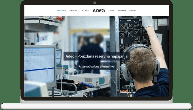 prikaz izrade web stranice za adeo